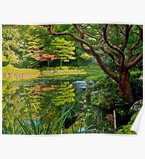 Heian Shrine pond garden, Kyoto, Japan Poster