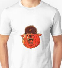 Illustration of a soviet bear . Unisex T-Shirt