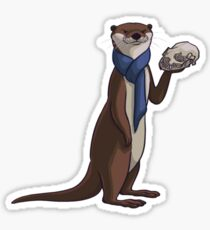 Pondering Otter Sticker