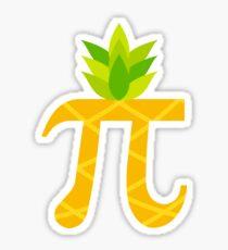 Funny Pi-neapple Pi Day 2018 Colorful Sign Humor Gift Sticker