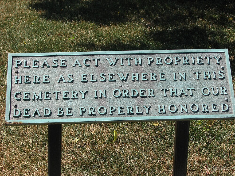 Arlington National Cemetery Notice To Visitors by Karl187