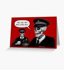 Skeleton Police (Red) Greeting Card