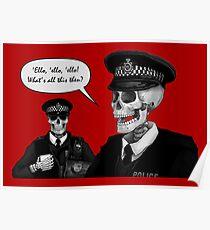 Skeleton Police (Red) Poster