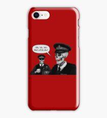 Skeleton Police (Red) iPhone Case/Skin