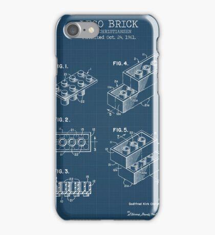 Lego Brick Blueprint iPhone Case/Skin