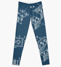 Lego Brick Blueprint Leggings
