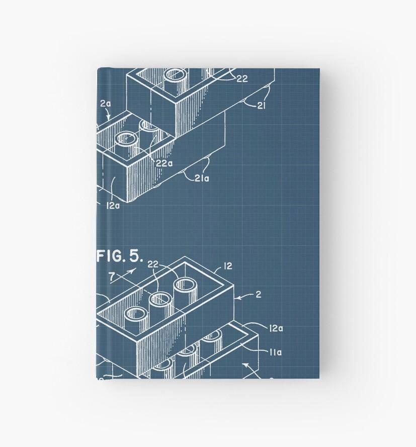 Lego brick blueprint hardcover journals by muharko redbubble lego brick blueprint malvernweather Images