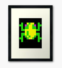 Frogger  Classic Arcade Game 80s Framed Print