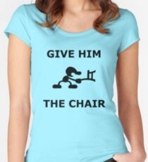 Mr. game and watch give him the chair Women's Fitted Scoop T-Shirt