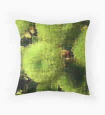 Green flower heads Throw Pillow
