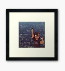 Romy + Math Framed Print