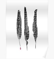 The Writer's Feathers Poster