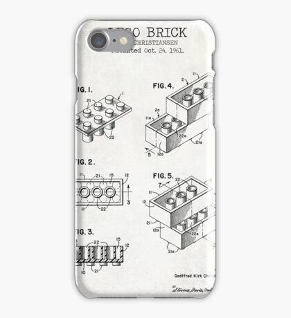 Lego Brick Old Canvas iPhone Case/Skin