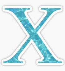 Chi X Tropical Water Blue Greek Sorority Sticker