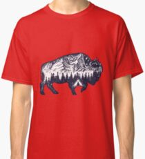 Bison double exposure Classic T-Shirt