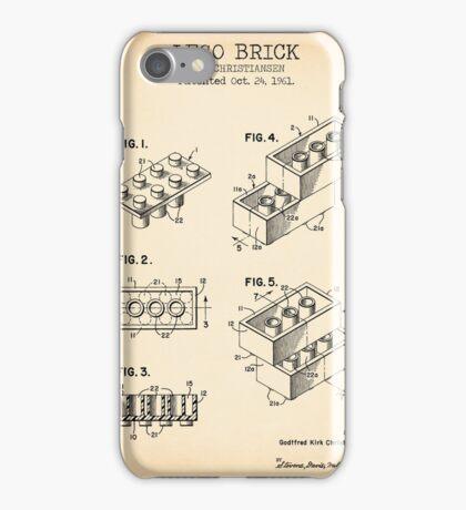 Lego Brick Vintage iPhone Case/Skin