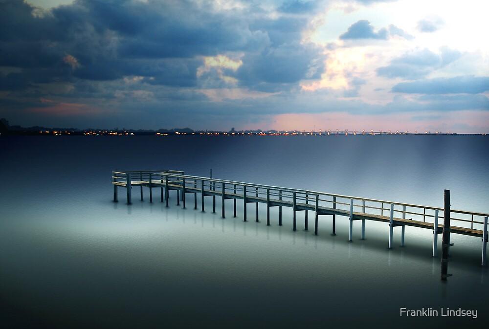 Spotlight on a Pier by Franklin Lindsey