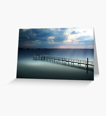 Spotlight on a Pier Greeting Card
