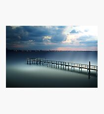 Spotlight on a Pier Photographic Print