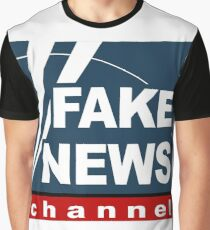 Fake News Channel Graphic T-Shirt