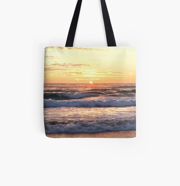 Golden Beach Sunrise All Over Print Tote Bag