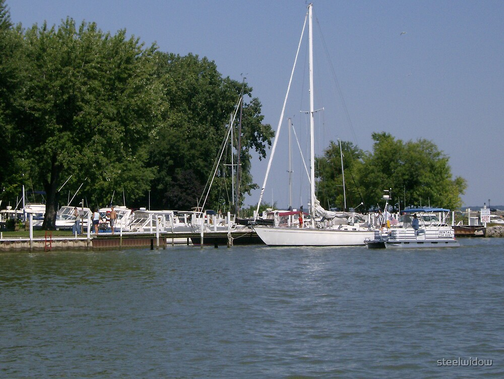 Sailboats at Port Clinton by steelwidow
