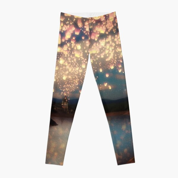 Wish Lanterns for Love Leggings