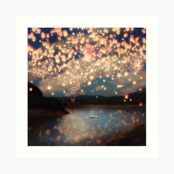 Wish Lanterns for Love Art Print