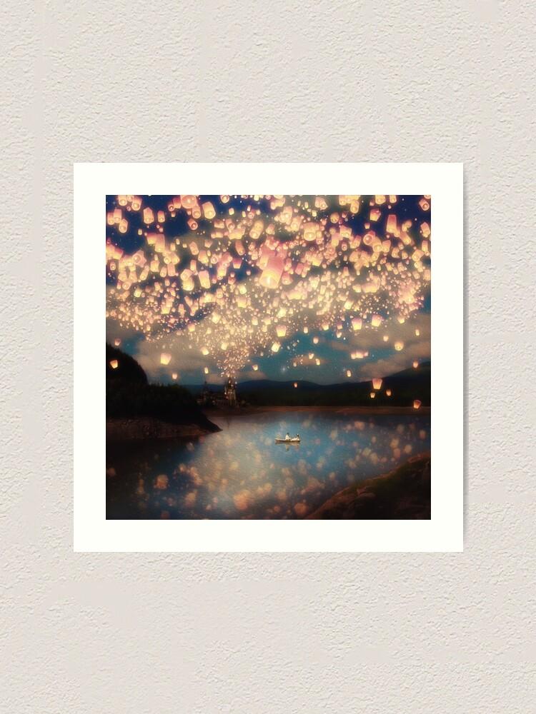 Alternate view of Wish Lanterns for Love Art Print