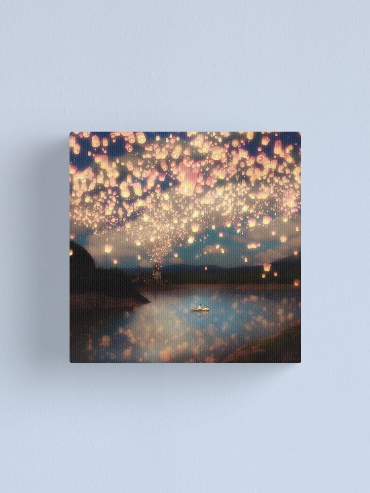 Alternate view of Wish Lanterns for Love Canvas Print