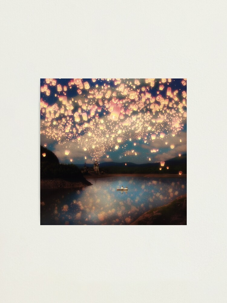 Alternate view of Wish Lanterns for Love Photographic Print