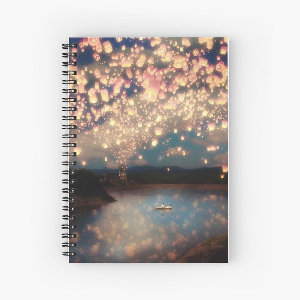 Wish Lanterns for Love Spiral Notebook