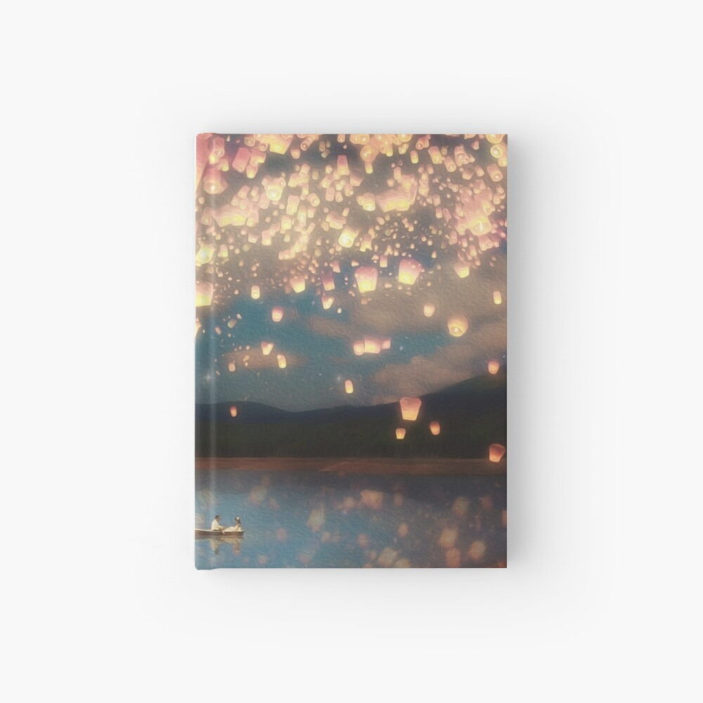 Wish Lanterns for Love Hardcover Journal