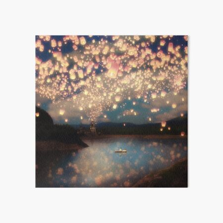 Wish Lanterns for Love Art Board Print