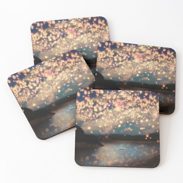 Wish Lanterns for Love Coasters (Set of 4)