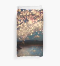 Wish Lanterns for Love Duvet Cover