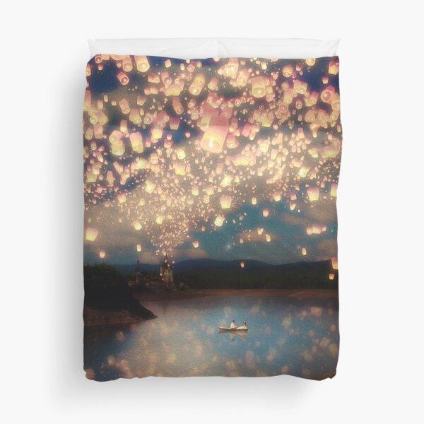 Wish Lanterns for Love Duvet Cover