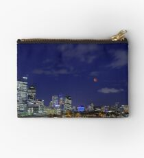 Lunar Eclipse - Perth Western Australia  Studio Pouch