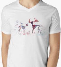 Deer skeletons Men's V-Neck T-Shirt