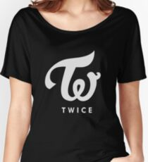twice silver logo Women's Relaxed Fit T-Shirt