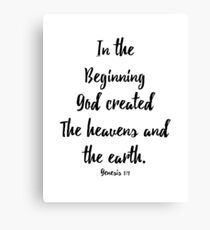 Genesis 1:1 Canvas Print