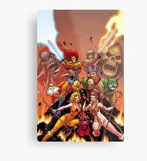 Thundercats vs HiMan Metal Print