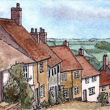 Gold Hill Shaftesbury Dorset by Spartanbass