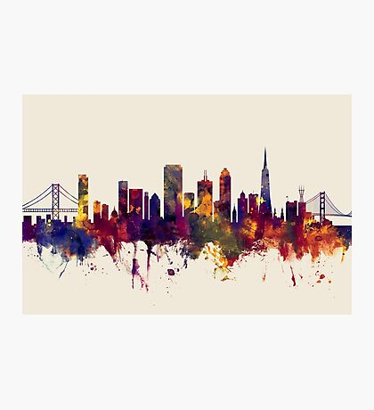 San Francisco City Skyline Photographic Print
