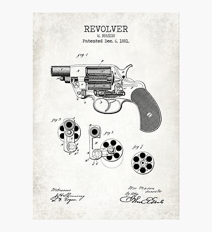 Revolver Old Print Photographic Print