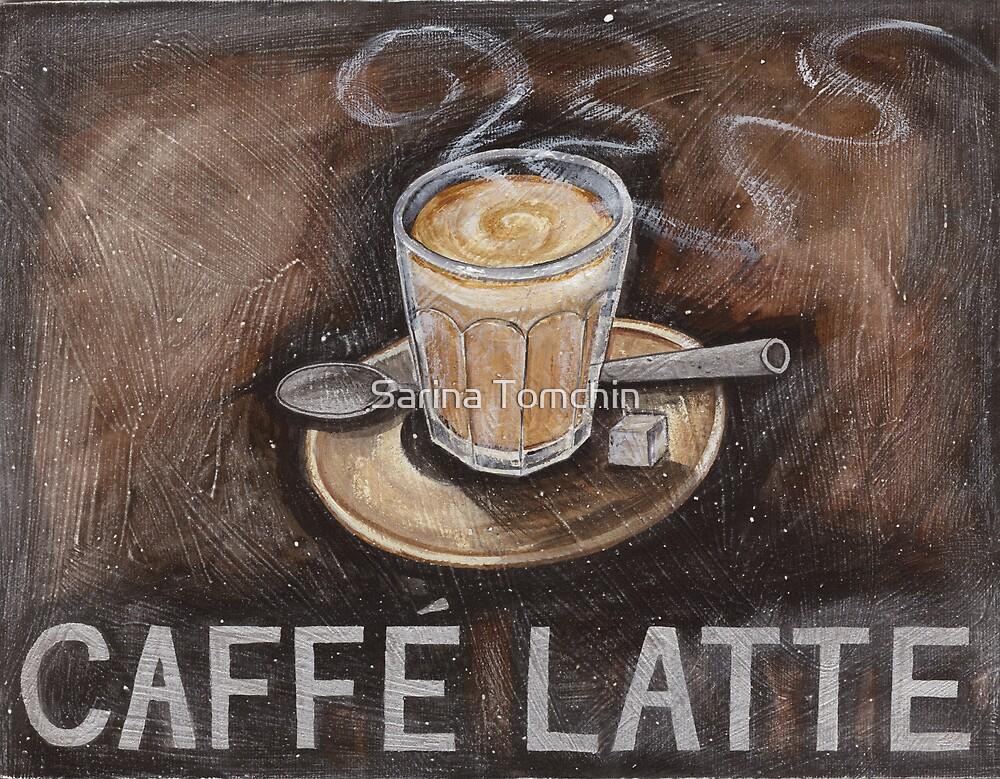 caffe latte by Sarina Tomchin