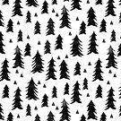 Weihnachtsbäume - Black & White von Andrea Lauren von Andrea Lauren