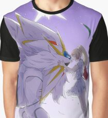 Solgaleo and Lillie Pokemon Sun Graphic T-Shirt