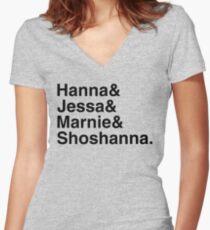 Girls Women's Fitted V-Neck T-Shirt