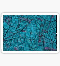 Mexico City map twilight Sticker